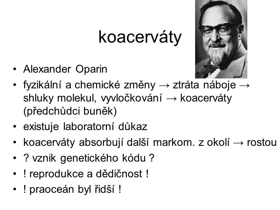 koacerváty Alexander Oparin