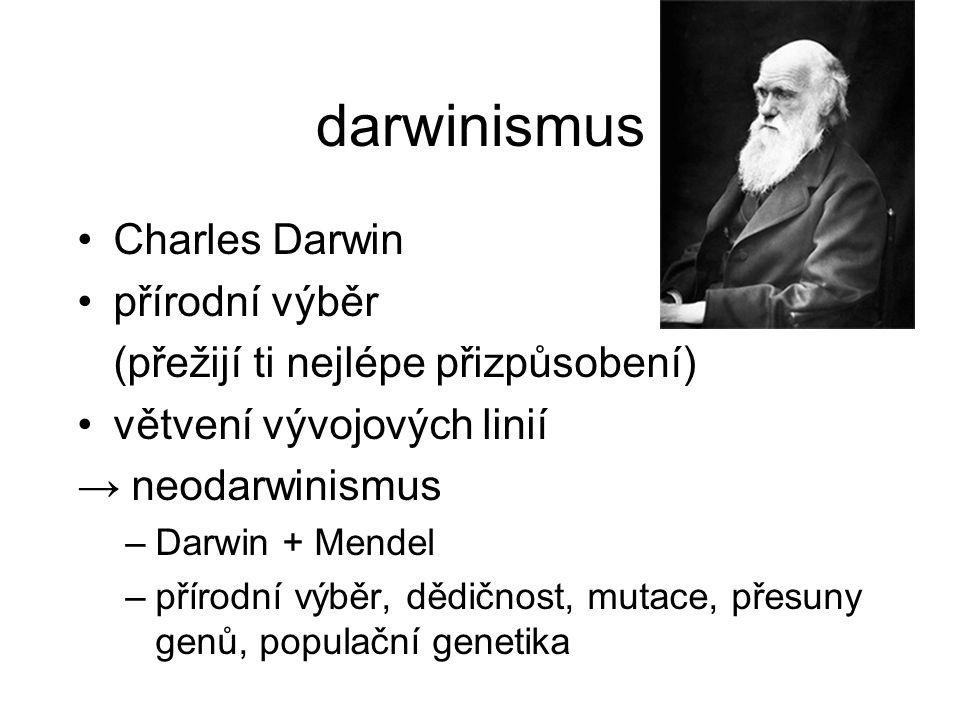 darwinismus Charles Darwin přírodní výběr