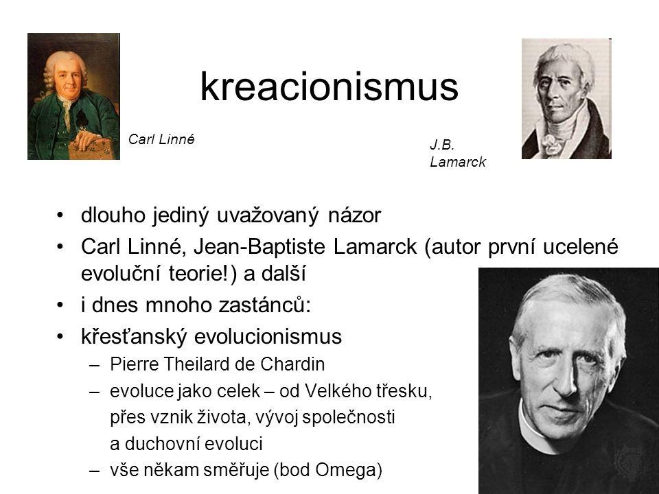 kreacionismus dlouho jediný uvažovaný názor