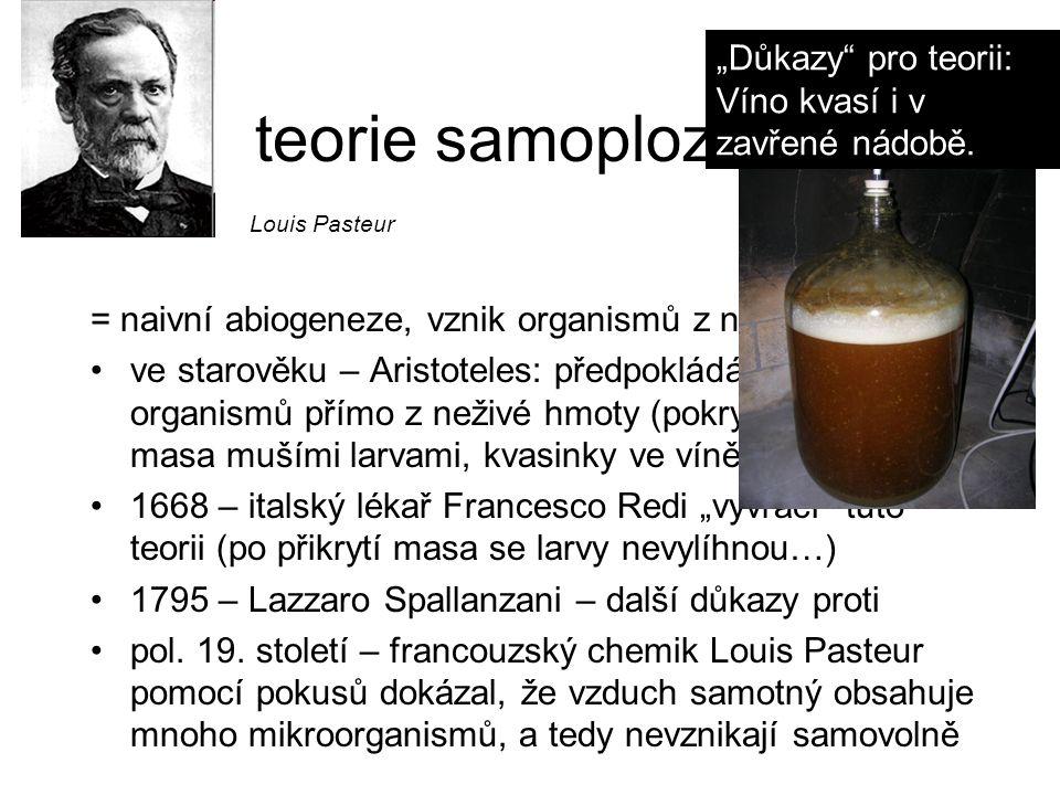"""teorie samoplození """"Důkazy pro teorii: Víno kvasí i v zavřené nádobě."""