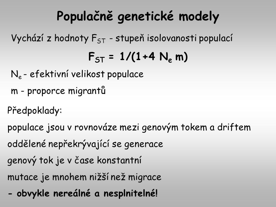 Populačně genetické modely