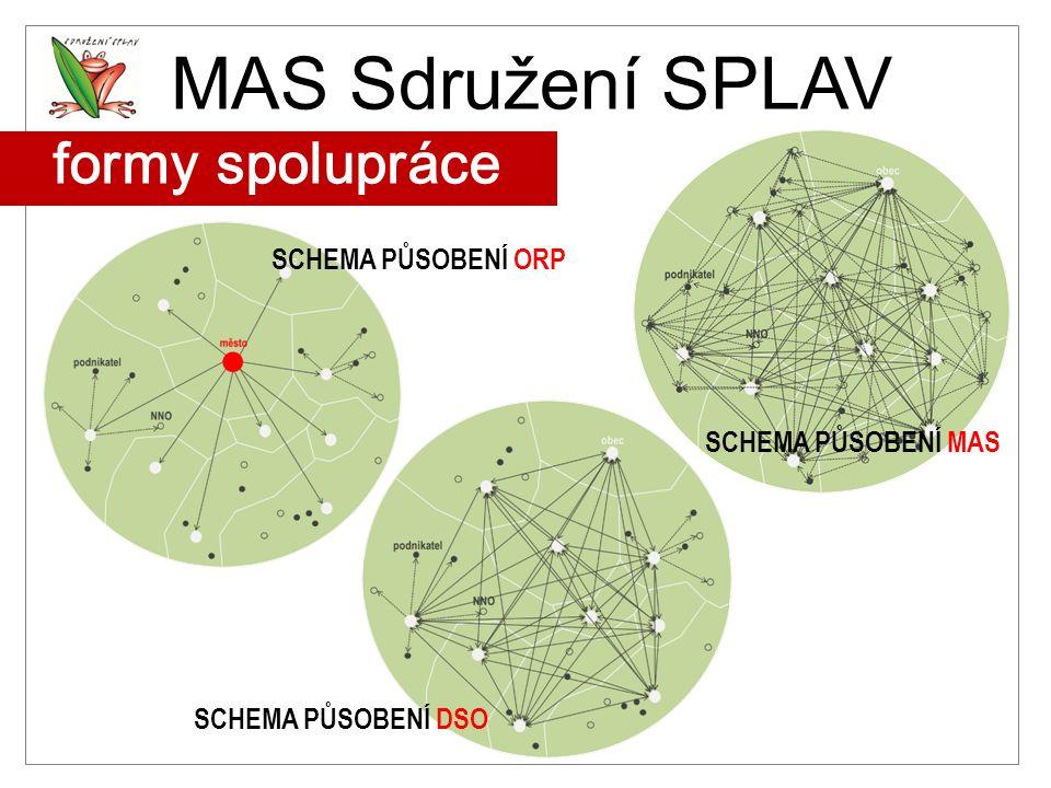 MAS Sdružení SPLAV formy spolupráce SCHEMA PŮSOBENÍ ORP