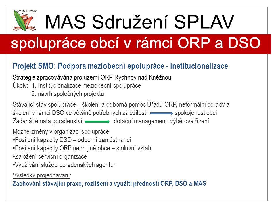 MAS Sdružení SPLAV spolupráce obcí v rámci ORP a DSO
