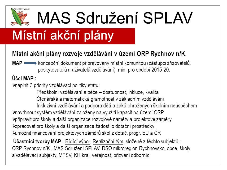 MAS Sdružení SPLAV Místní akční plány