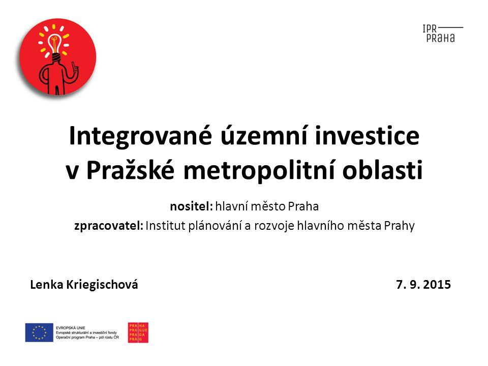 Integrované územní investice v Pražské metropolitní oblasti