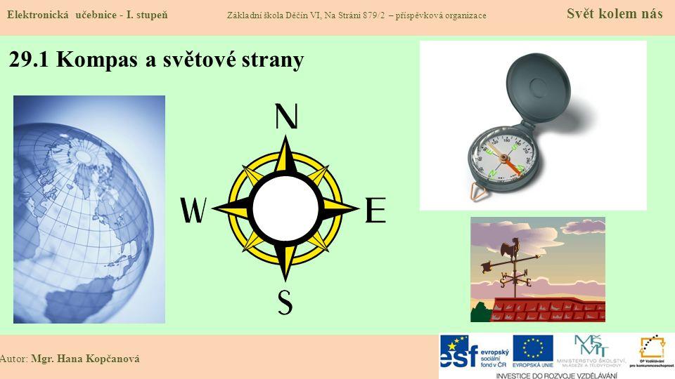 29.1 Kompas a světové strany