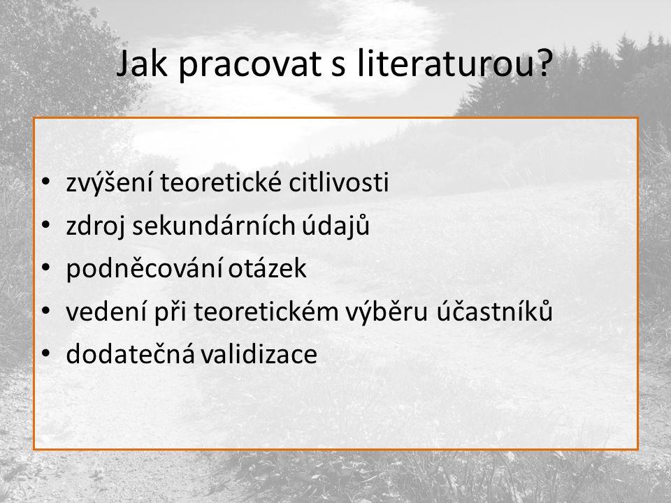 Jak pracovat s literaturou