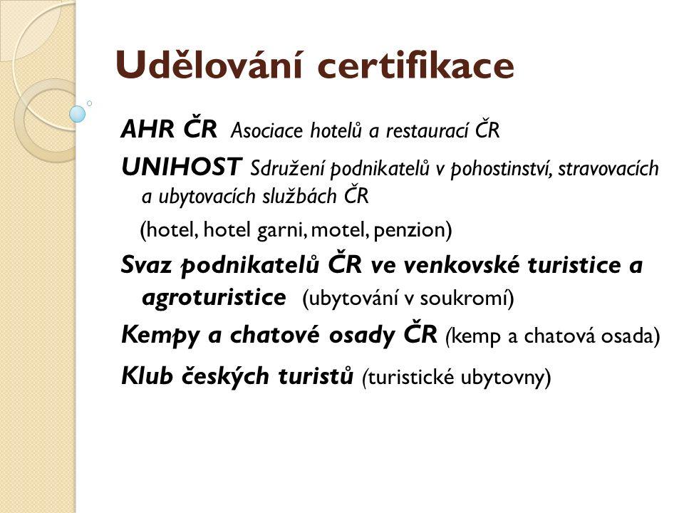 Udělování certifikace