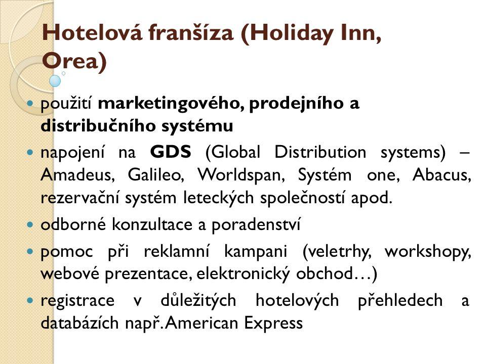 Hotelová franšíza (Holiday Inn, Orea)
