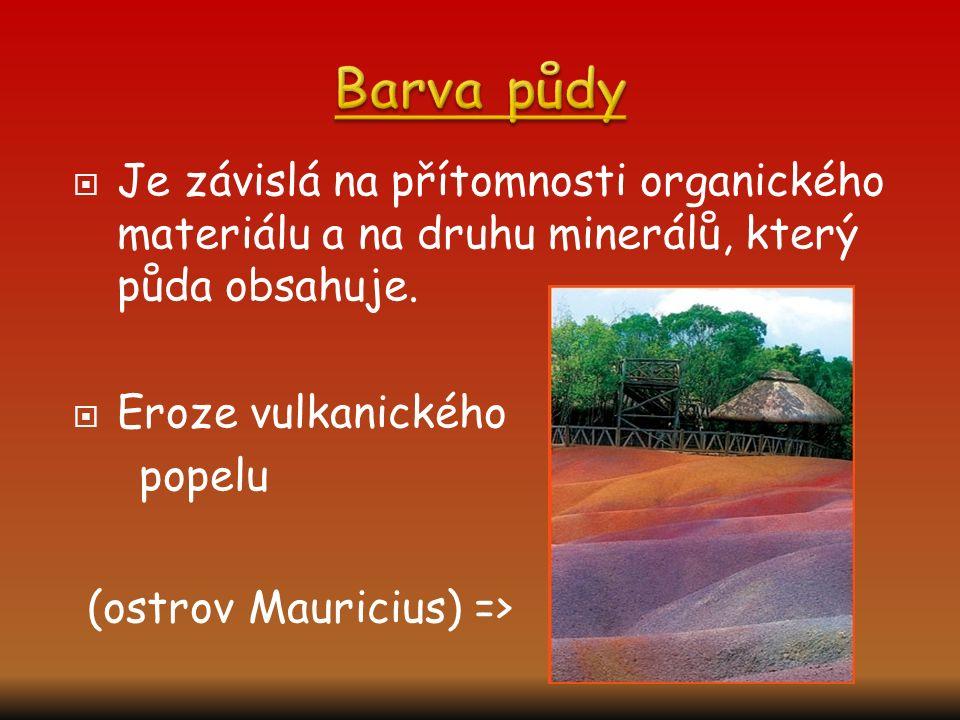 Barva půdy (ostrov Mauricius) =>