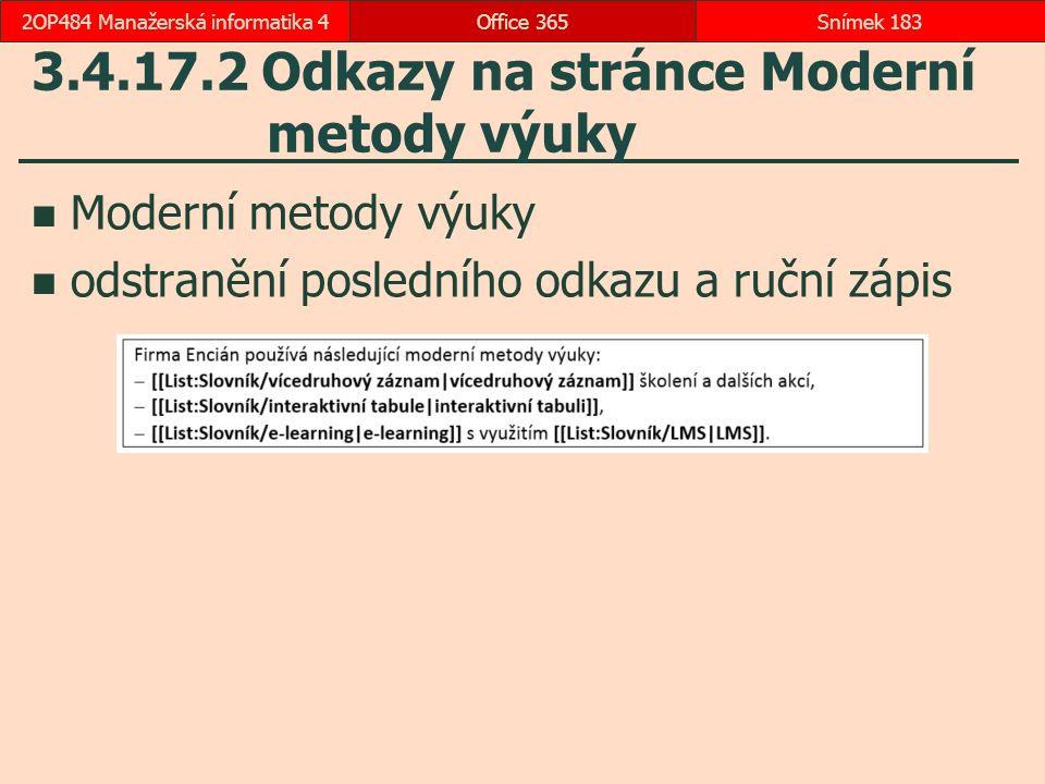 3.4.17.2 Odkazy na stránce Moderní metody výuky