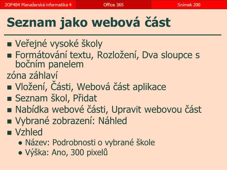 Seznam jako webová část