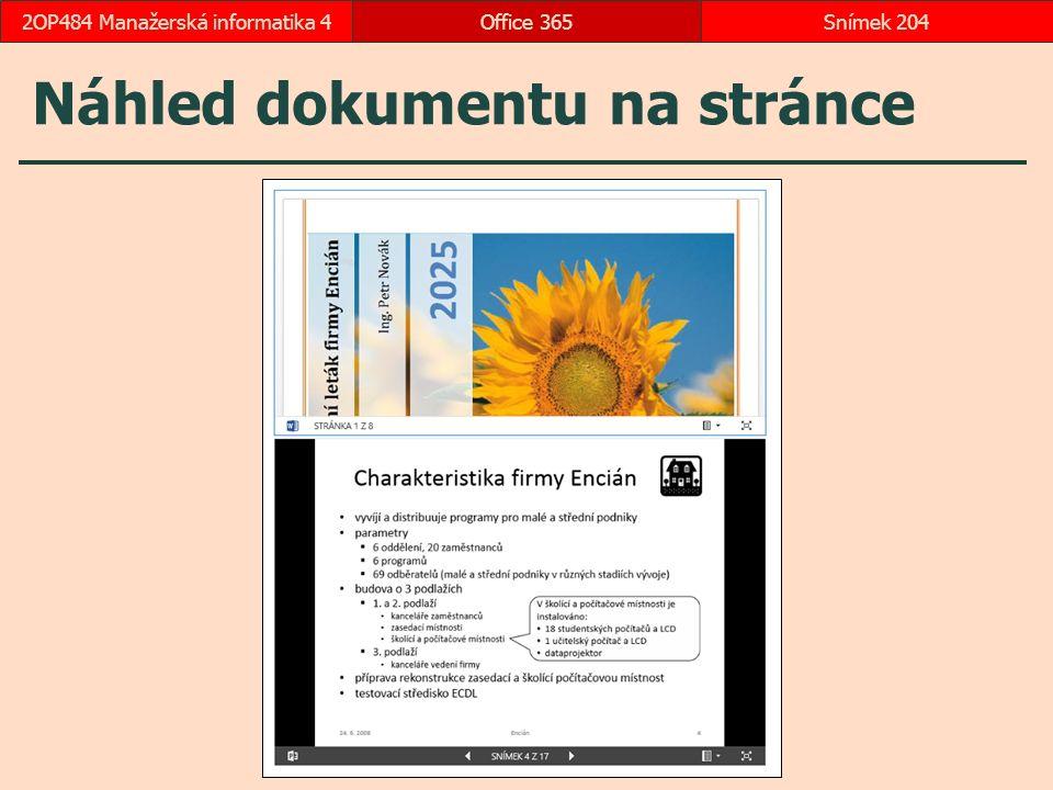 Náhled dokumentu na stránce