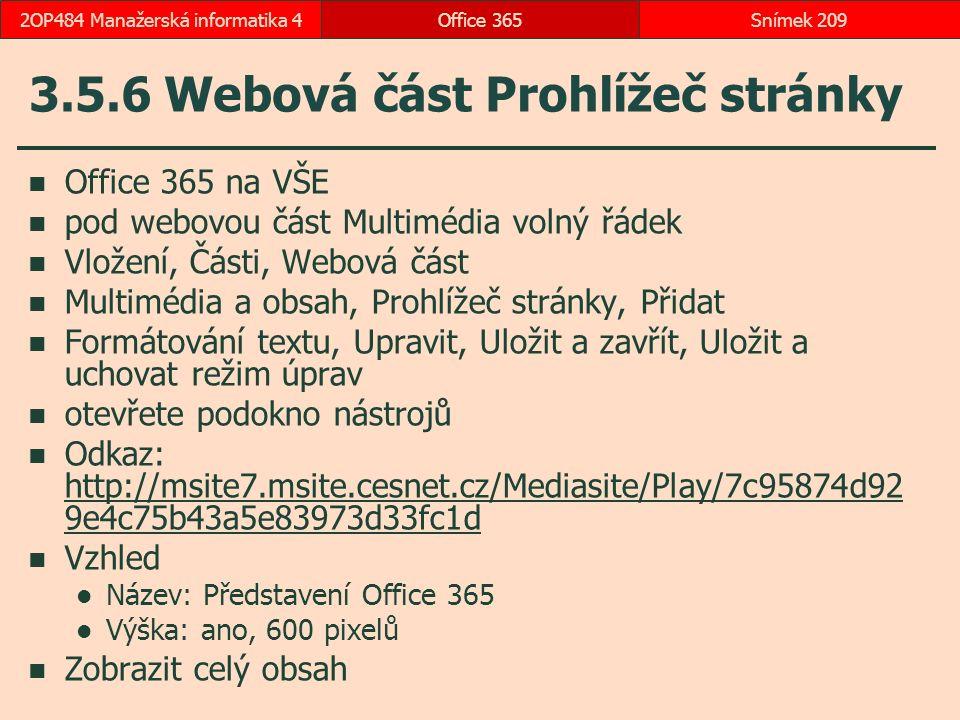 3.5.6 Webová část Prohlížeč stránky