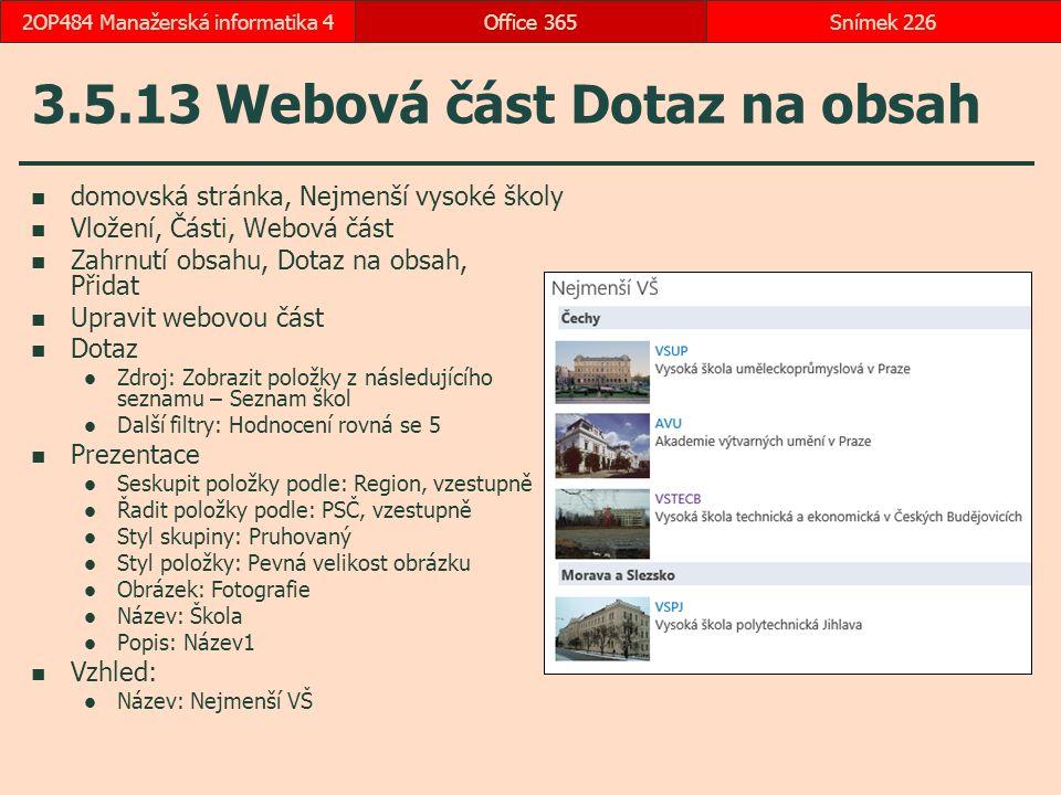 3.5.13 Webová část Dotaz na obsah