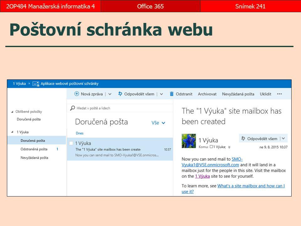 Poštovní schránka webu