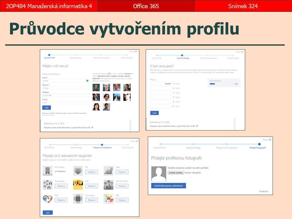 Průvodce vytvořením profilu