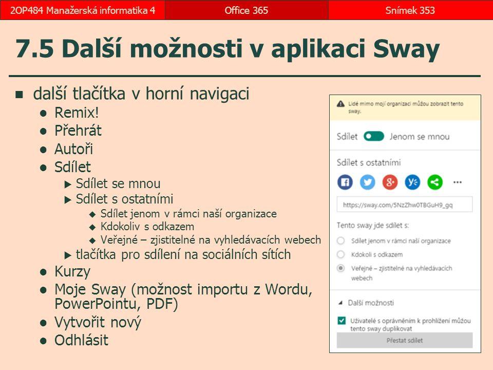 7.5 Další možnosti v aplikaci Sway