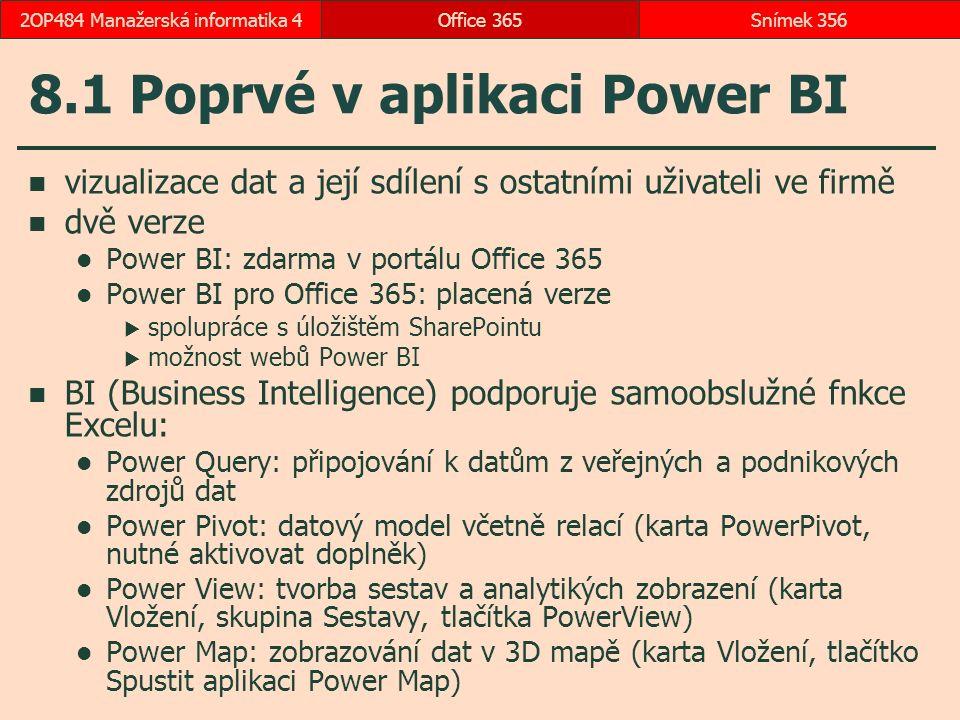 8.1 Poprvé v aplikaci Power BI
