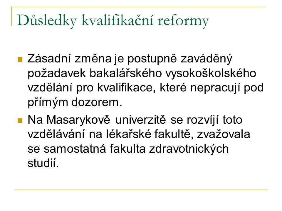 Důsledky kvalifikační reformy
