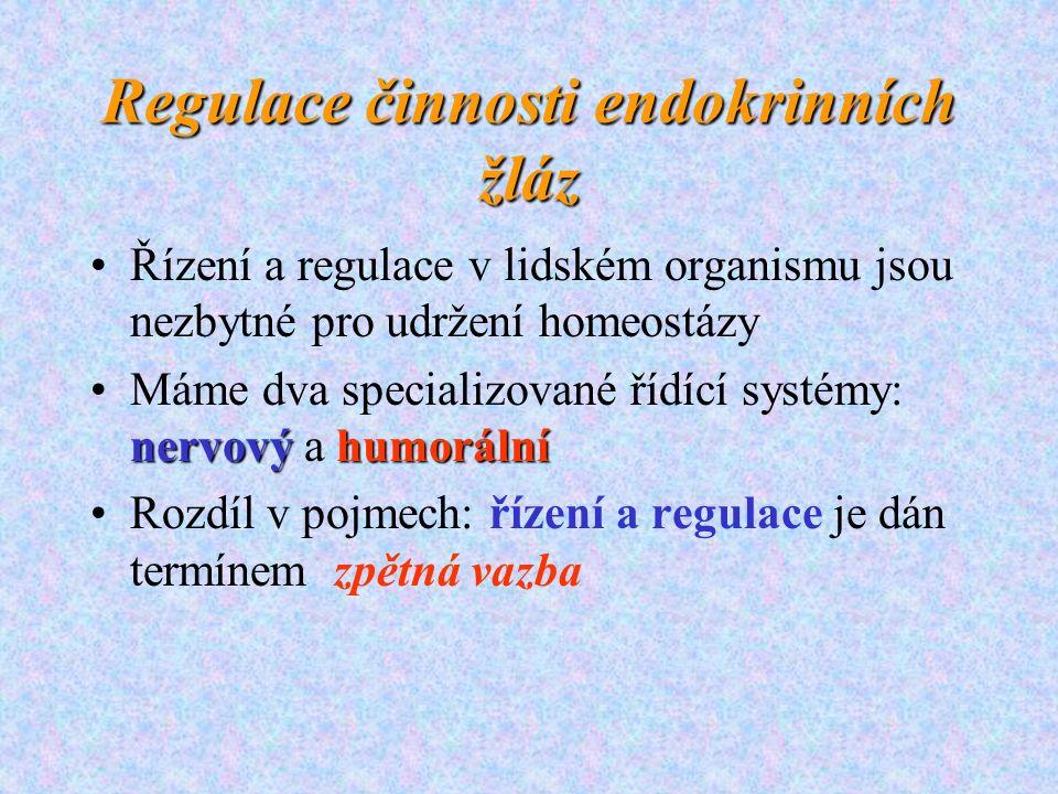 Regulace činnosti endokrinních žláz