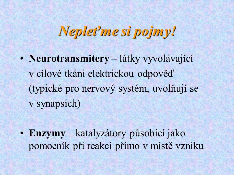 Nepleťme si pojmy! Neurotransmitery – látky vyvolávající