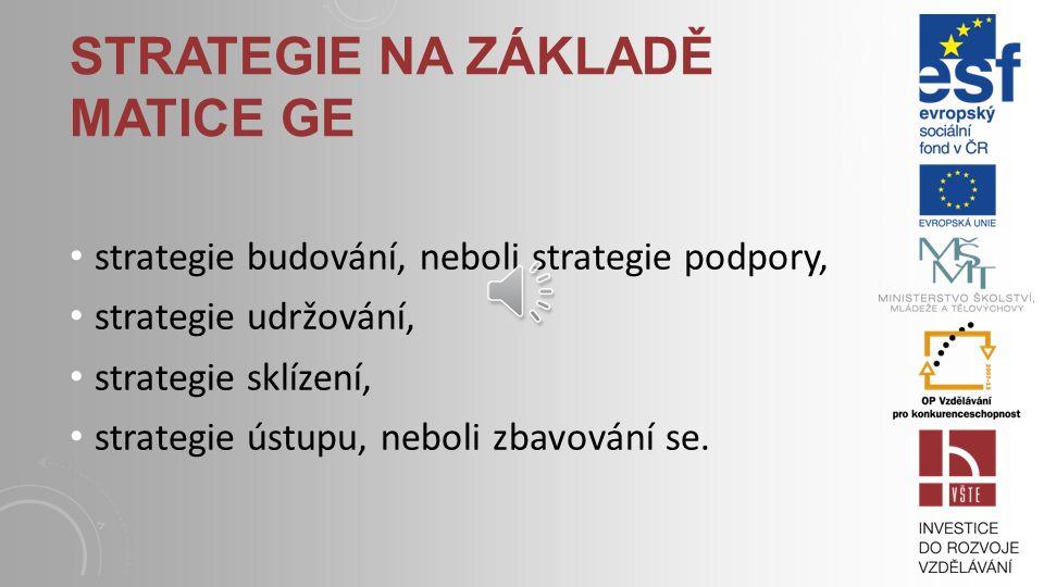 Strategie na základě matice GE