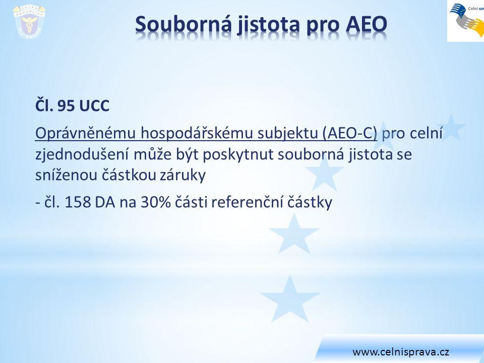 Souborná jistota pro AEO
