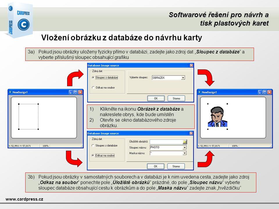 Vložení obrázku z databáze do návrhu karty
