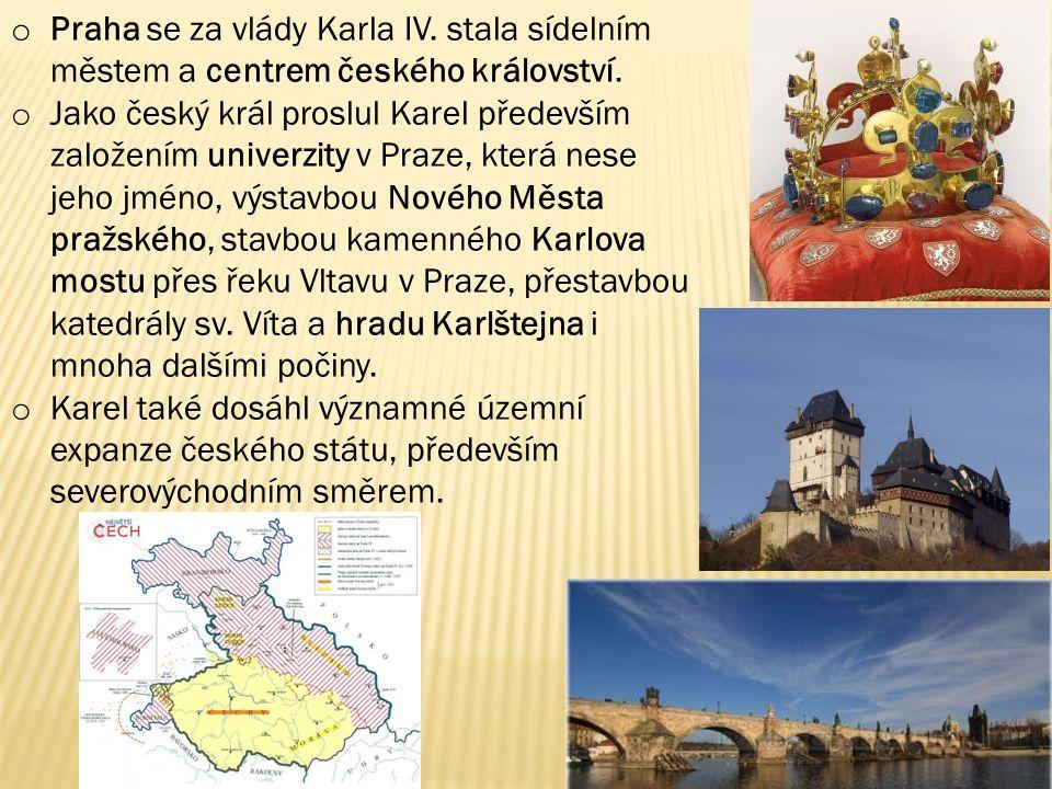 Praha se za vlády Karla IV