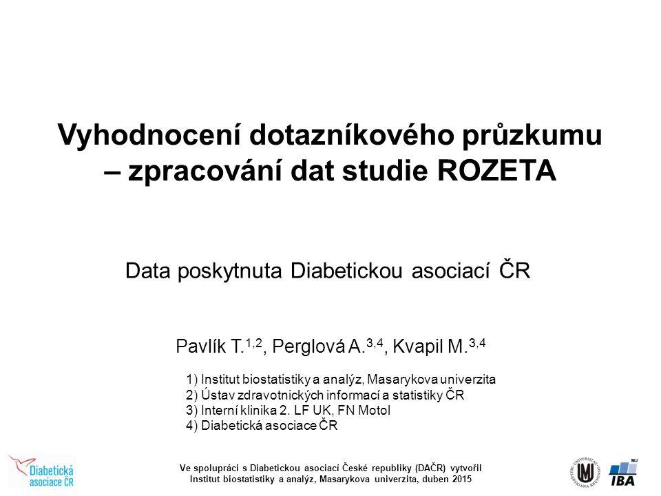 Vyhodnocení dotazníkového průzkumu – zpracování dat studie ROZETA