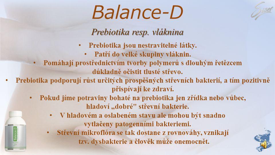 Balance-D Prebiotika resp. vláknina