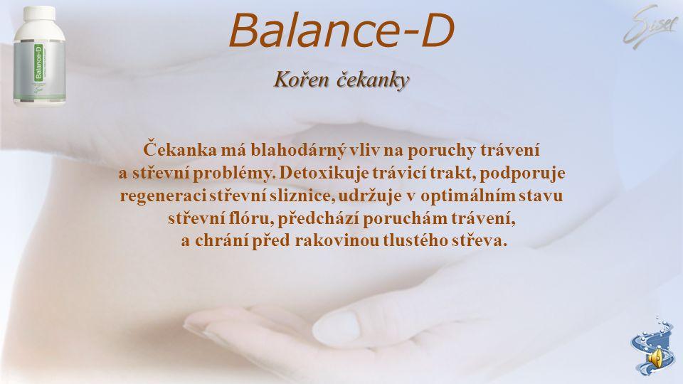 Balance-D Kořen čekanky Čekanka má blahodárný vliv na poruchy trávení