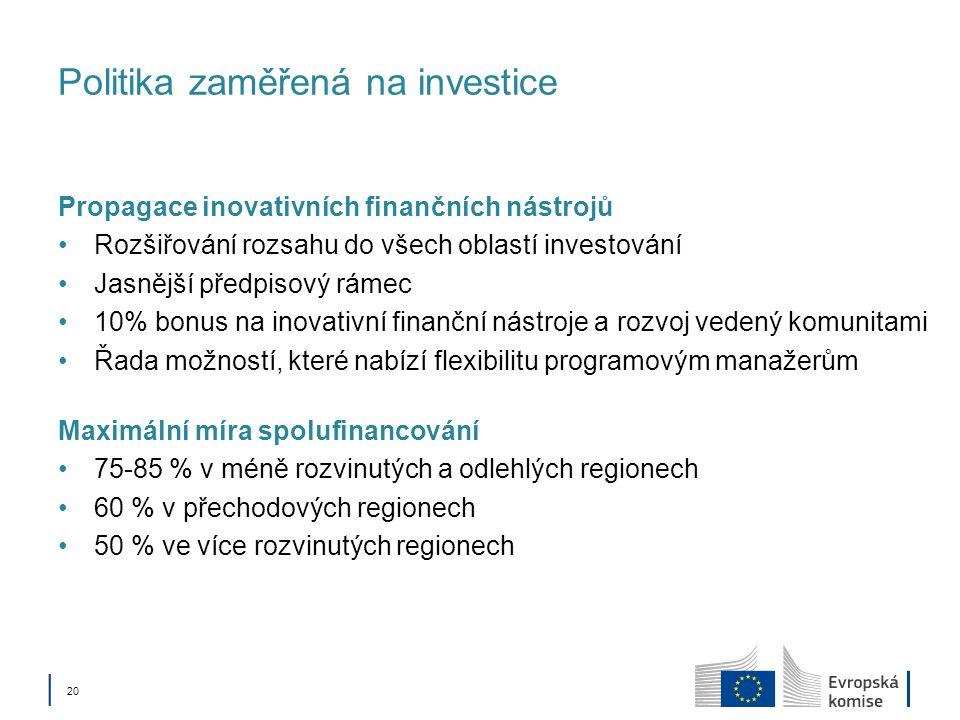 Politika zaměřená na investice