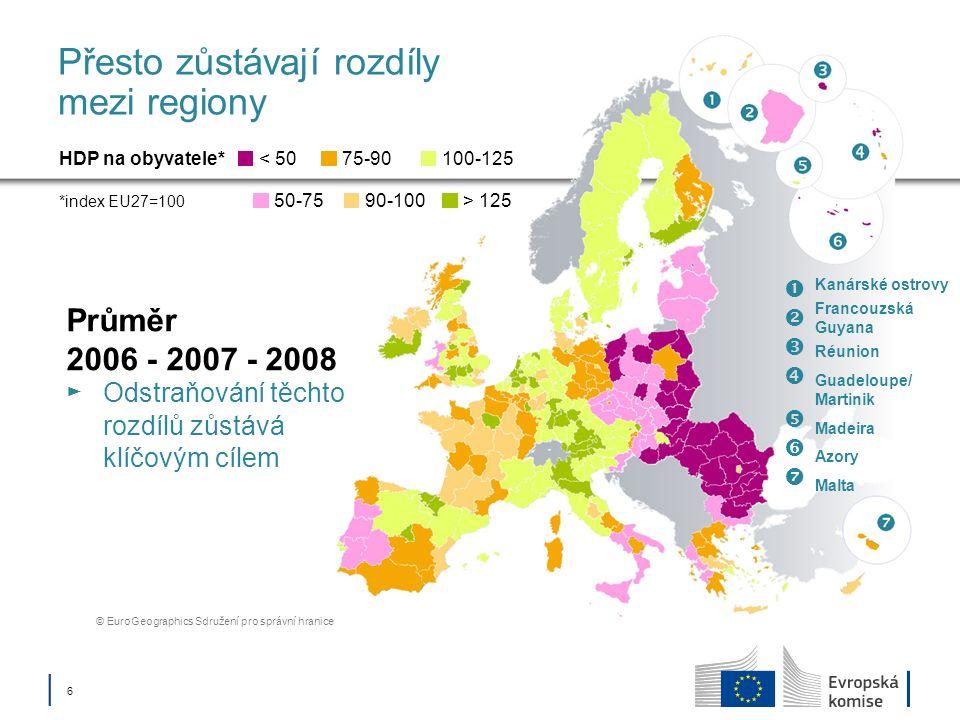 Přesto zůstávají rozdíly mezi regiony
