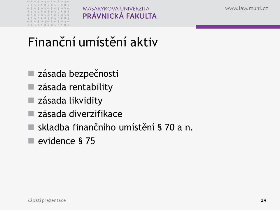 Finanční umístění aktiv