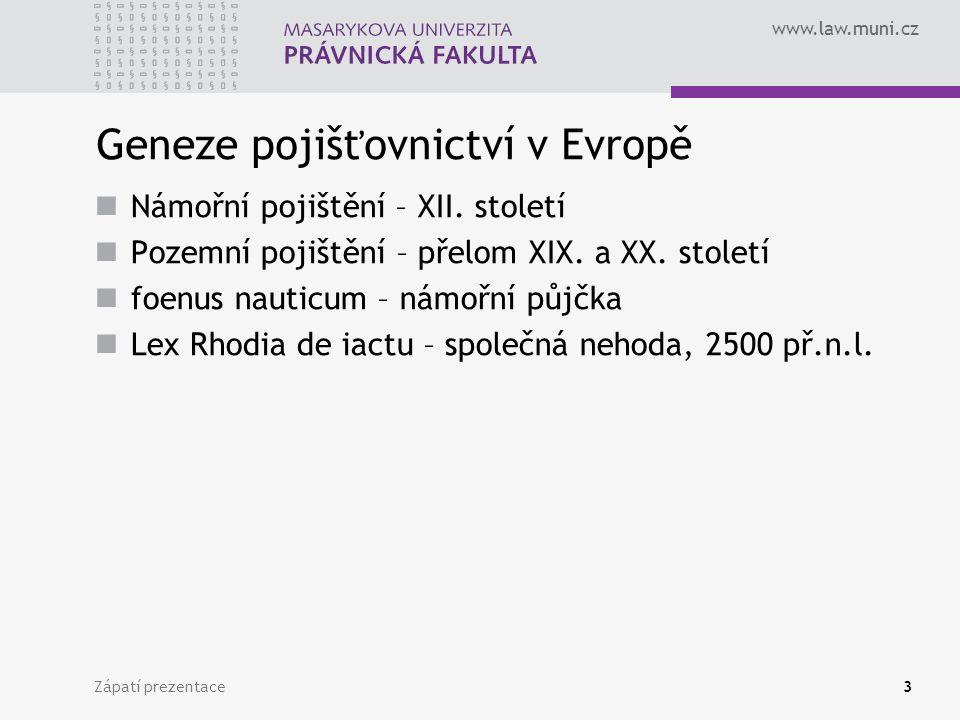Geneze pojišťovnictví v Evropě