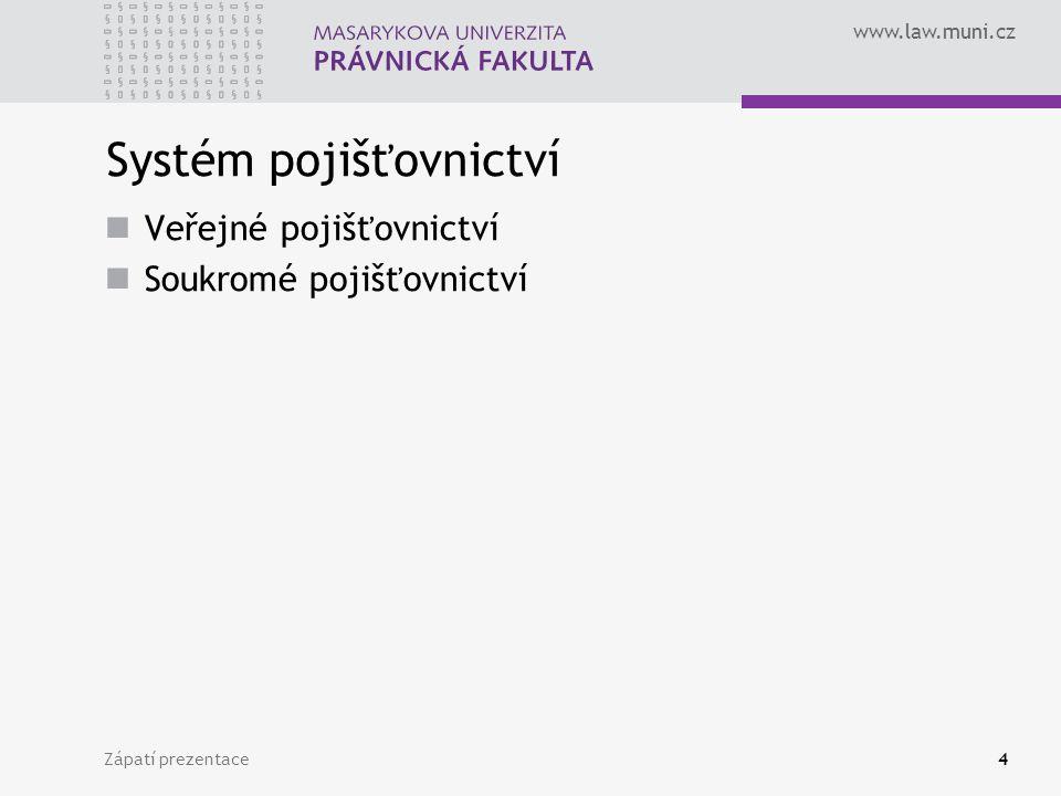 Systém pojišťovnictví