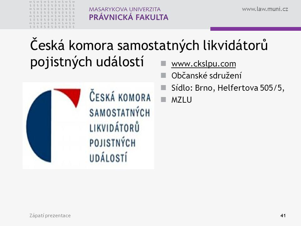 Česká komora samostatných likvidátorů pojistných událostí