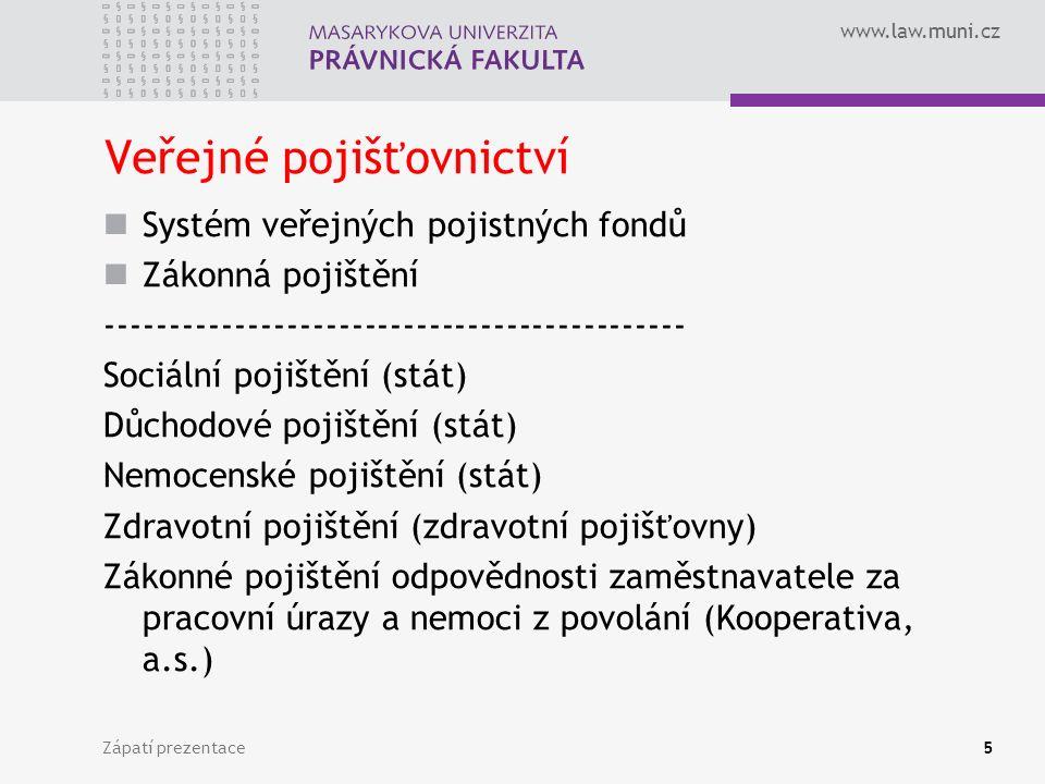 Veřejné pojišťovnictví