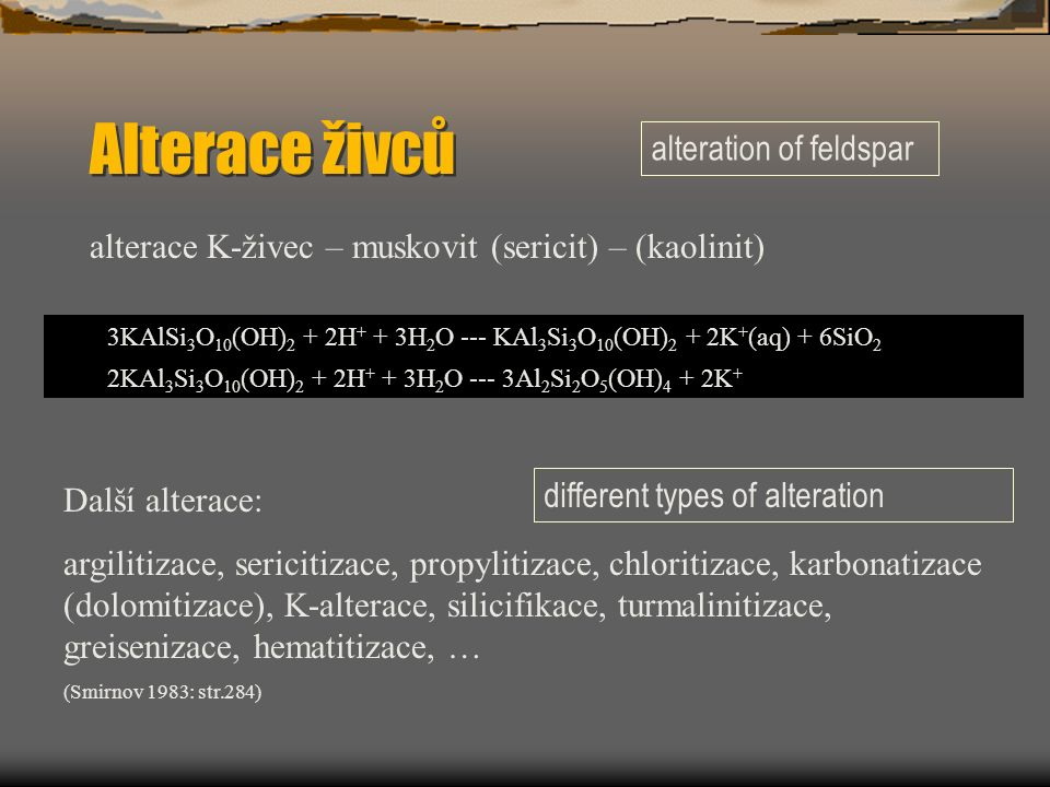 Alterace živců alteration of feldspar