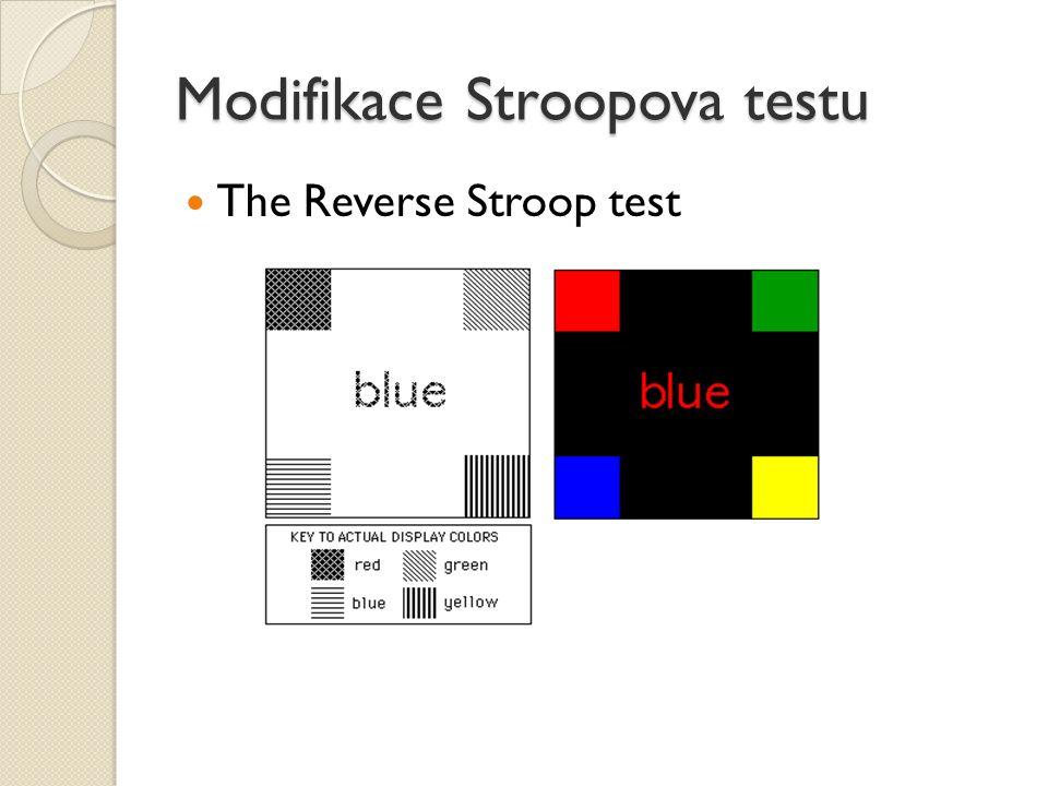 Modifikace Stroopova testu