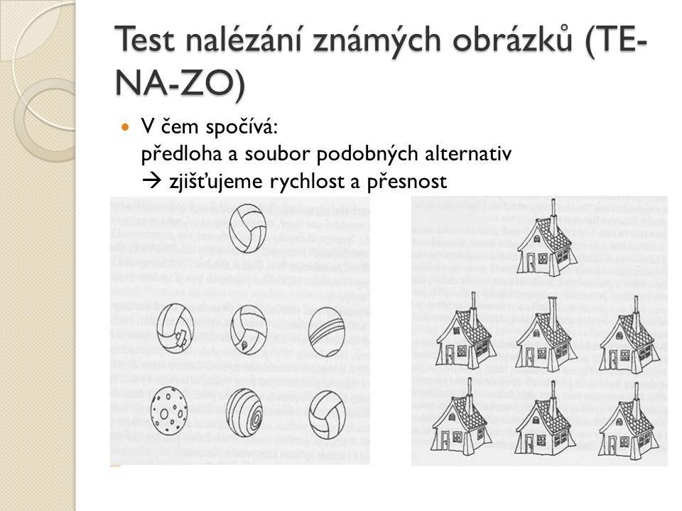 Test nalézání známých obrázků (TE-NA-ZO)
