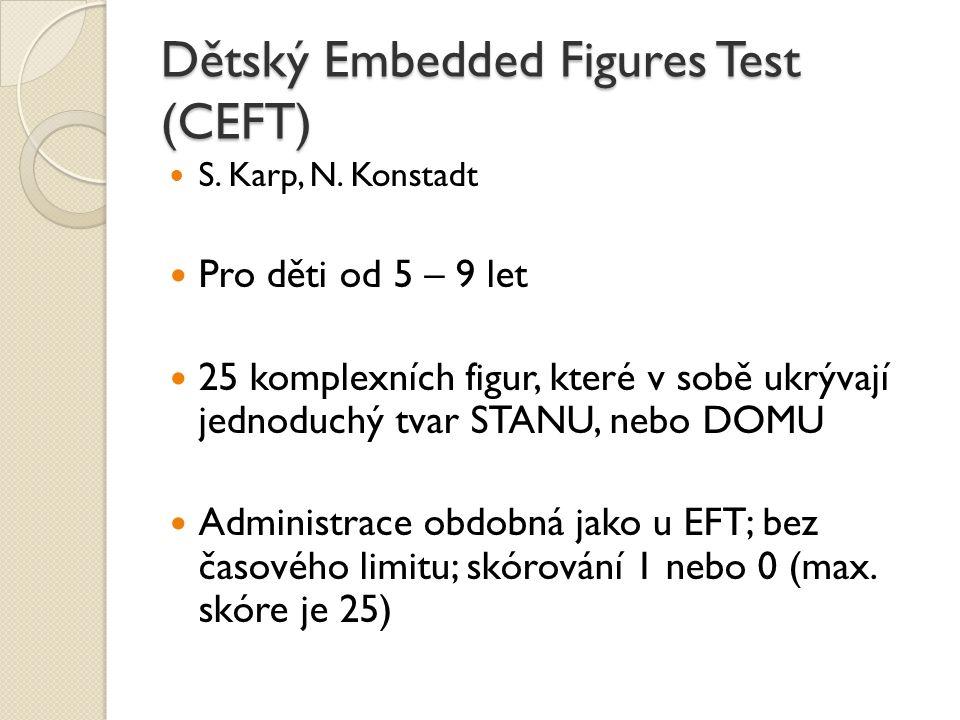 Dětský Embedded Figures Test (CEFT)