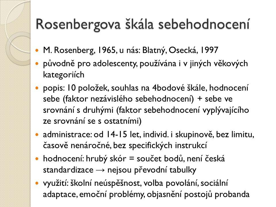 Rosenbergova škála sebehodnocení