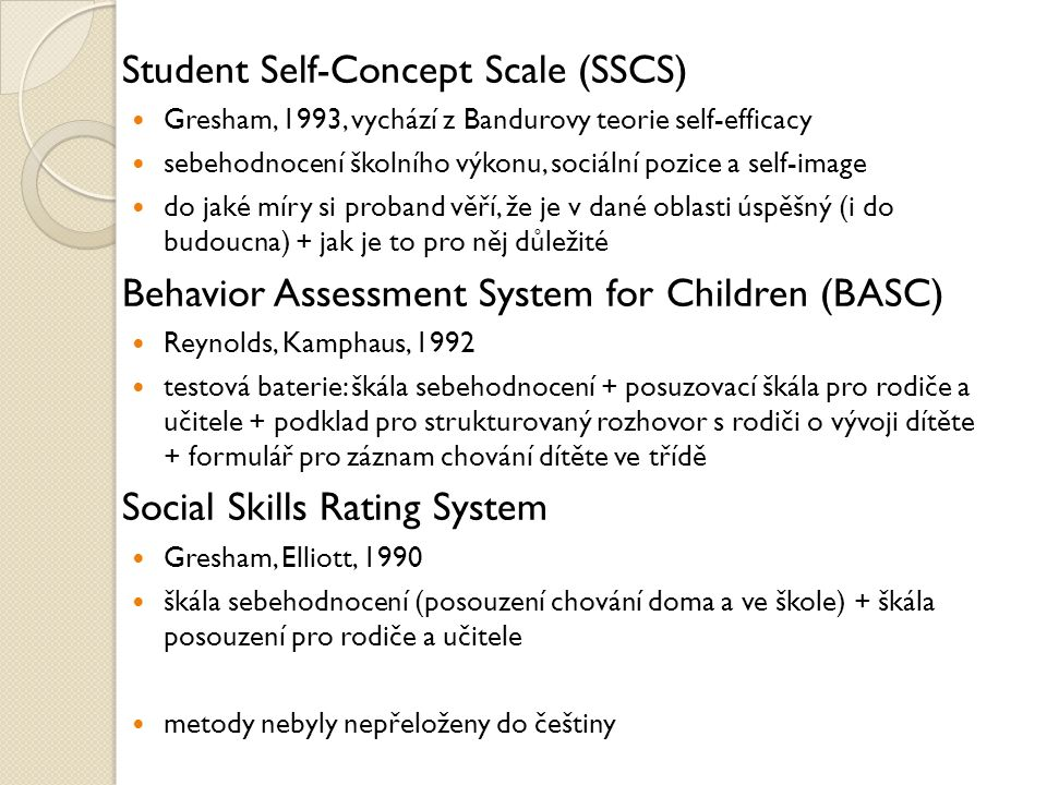 Student Self-Concept Scale (SSCS)