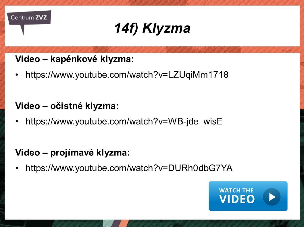 14f) Klyzma Video – kapénkové klyzma: