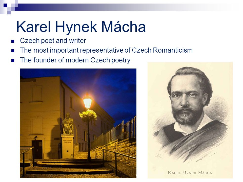 Karel Hynek Mácha Czech poet and writer