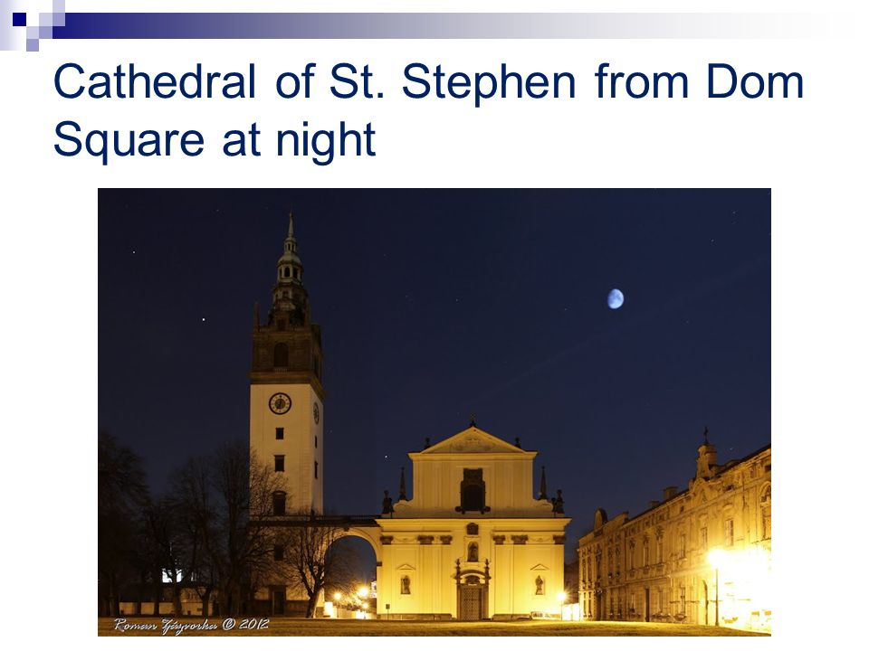 Cathedral of St. Stephen from Dom Square at night