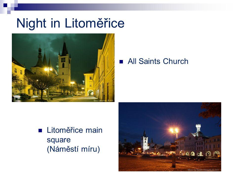 Night in Litoměřice All Saints Church